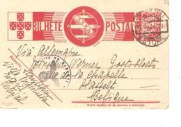 Portugal Entire PC C.Estoril 17/10/1940 German Censor To Belgium Hasselt PR3389 - Postal Stationery