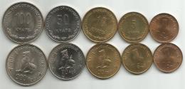 Myanmar 1999. Set Of 1 - 5 - 10 - 50 - 100 Kyats 1999. KM#60 - 61 - 62 - 63 - 64 - Myanmar