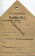Blanco-Anhängsel Für Ein Eisenbahner-Fahrrad Zum Transport Im Gepäckwagen 1950 - Transporttickets