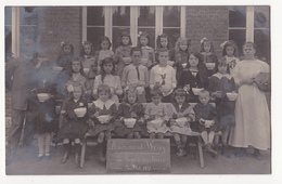 Andrimont-Wesny: Le Repas Scolaire, 1917 (carte-photo) - Dison