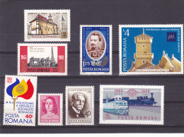 #146      SINGLE STAMPS, 8X STAMPS, MNH**  ROMANIA. - 1948-.... Republics
