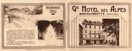 04 - BARCELONNETTE - LIVRET PUBLICITAIRE GRAND HOTEL DES ALPES - Publicités