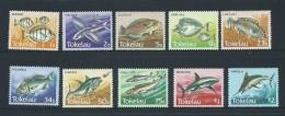 Tokelau 1984 Fish Definitives Set Of 10 MNH - Tokelau