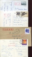 12060 China,  4 Circuled Postcards From China To Italy And Switzerland - Storia Postale