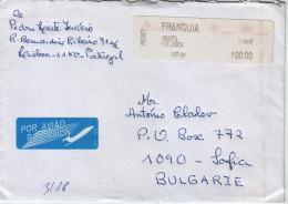 ATM Frama Label On Cover: Portugal Travel- Bulgaria - ATM - Frama (vignette)
