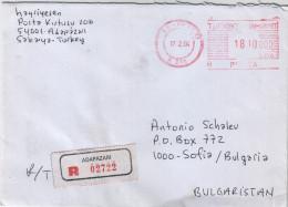 ATM Frama Label On Cover: Turkey Travel- Bulgaria - ATM - Frama (vignette)