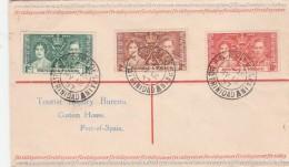 FDC 1937 TOURIST INQUIRY BUREAU PORT OF SPAIN - Trinité & Tobago (1962-...)