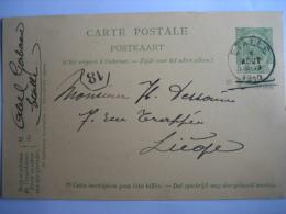 Entier Postal Armoiries ETALLE 1910  Vers LIEGE - Signé  Abel GERBAUX à ETALLE - Entiers Postaux