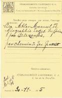 CP Publicitaire Germania TOURNAI 1 DOORNIK 1915 -censure TOURNAI - ETABLISSEMENTS CASTERMAN Editeurs Pontificaux - Tournai