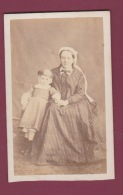 07082016 - PHOTOS - CDV - Mme Marie Durivault Mlle Bernard Et Sa Fille Catherine - Old (before 1900)