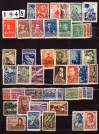 BULGARIA \ BULGARIE - 1948 - Anne Complete ** - Yv. 570/607 + PA 52/55 - Cote - 30.00EU Pour 4.50 - Komplette Jahrgänge