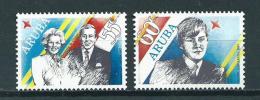 1987 Aruba Complete Set Royal Visit MNH,Postfris,Neuf Sans Charniere - Curaçao, Antilles Neérlandaises, Aruba