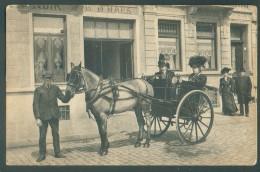 C.P. Oblitérée Agence LAEKEN 11 * En Sept. 1919 Avec Vue MAISON D.. HAES + Charette Trolley Avec 2 Dames (rare). En SM V - Laeken
