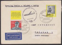 Erstflug Der Lufthansa Berlin - Belgrad - Berlin 1960, Johannes R. Becher Mit Leerfeld Oben - [6] Oost-Duitsland