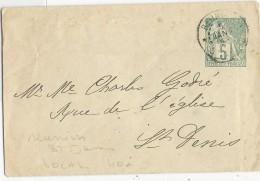 REUNION - ENVELOPPE ENTIER POSTAL TYPE ALPHEE PORT LOCAL De ST DENIS - Réunion (1852-1975)