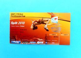 ATHLETISME - IAAF CONTINENTAL CUP 2010. - BLANKA VLASIC High Jump * Ticket Billet Athletics Athletik Atletismo Atletica - Tickets D'entrée