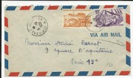 SPM - 1951 - ENVELOPPE Par AVION De ST PIERRE Pour PARIS - St.Pierre & Miquelon