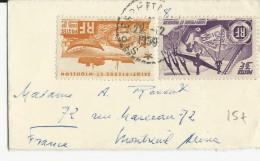 SPM - 1950 - ENVELOPPE PETIT FORMAT CARTE De VISITE De ST PIERRE Pour MONTREUIL - St.Pierre & Miquelon