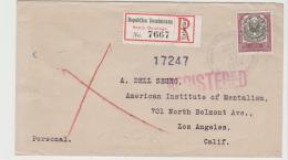 Do025 / Einschreiben Ex Santo Domingo Nach USA 1941 Mit 10 C. Staatswappen, Einzelfrankatur. - Dominikanische Rep.