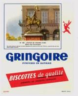 Buvard Biscottes Gringoire, Statue De Jeanne D'Arc - Biscottes