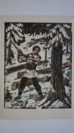 Ukraine. Hutsul Lumberjack - OLD USSR PC  - 1962 - Ucraina