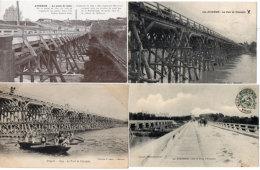 AVIGNON - 4 CPA - Pont De Chevalets - Pont De Bois - Nouveau Pont - Attelage - Barques (Génie)(89134 - Avignon