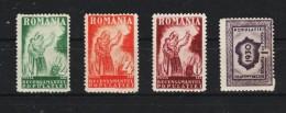 1930 - Propagande Pour Le Recensement Mi No 393/396 Et Yv No 402/405 MH - 1918-1948 Ferdinand, Carol II. & Mihai I.