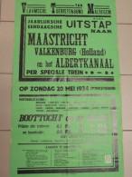 Affiche Poster - Jaarlijkse Uitstap Naar Maastricht  - Vlaamse Toeristenbond Maldegem 1934 - Druk Delille - Affiches