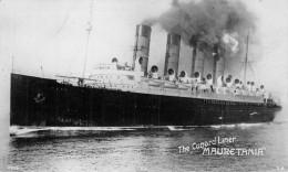 "Carte Photo  Paquebot De La Cunard  Liner  "" Mauretania "" - Passagiersschepen"