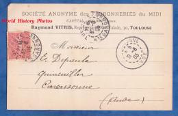 CPA Précurseur Commerciale - TOULOUSE - Société Anonyme Des Ferronneries Du Midi - Raymond VITRIS Représentant - 1905 - Toulouse