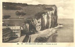 05 - CPA - LES GRANDES DALLES - Falaise En Aval - (n&b) - - France