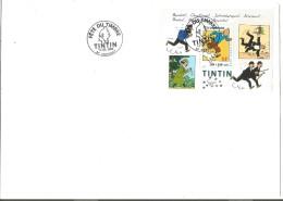 FDC 2000 FETE DU TIMBRE  TINTIN ANNONAY (ARDECHE) - FDC
