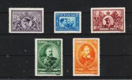 1931 - Cinquantenaire Du Royaume Michel No 397/401 Et Yv No 406/410 MNH - 1918-1948 Ferdinand, Carol II. & Mihai I.
