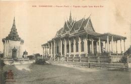 CAMBODGE PHNOM PENH PAGODE ROYALE FACE NORD EST - Cambodia