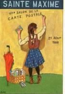 SAINTE MAXIME 83 -ILLUSTRATEUR Andre Roussey Idée Chocolat Menier - Bourses & Salons De Collections