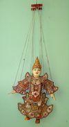 Marionette (marionnette) à Fils De Collection 38 Cm - Origine Birmane - Marionnettes