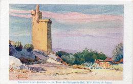 VILLENEUVE LES AVIGNON  - Tour Philippe Le Bel - Peinture De Poisson   (89185) - Villeneuve-lès-Avignon
