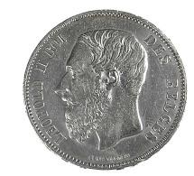 5 Francs - Belgique - 1874 - TTB - - 1865-1909: Leopoldo II