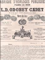 Horloges Publiques Odobey Cadet Morez-du-jura 1927 Beffroi Cloches - Altri
