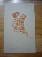 CPA Allemande WWI Mère Et Enfant / Mutter Und Kind  Illustrateur Wally Fialkowska - Femmes