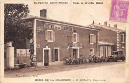 38-MI-PLAINE-SAINT-PRIEST- ROUTE DE GRENOBLE HÔTEL DE LA CHAUMIERE ( POMPES A ESSENCE ) - France