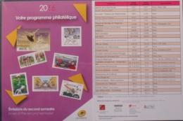 Programme Philatélique Du 2ème Semestre (2016) Neuf** - Documents Of Postal Services