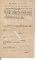 Camelots Du Roi Bulletin D'adhésion à La Fédération Nationale Maurras Daudet Royalisme Droites Royauté Nationalisme - Documents