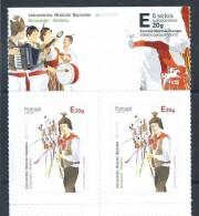 Gitarre. Concertina. Tambor. Brinquinho Madeira. Musikinstrumente. Musical Instruments. Madeira. Two Stamps. Turismo. - Musica