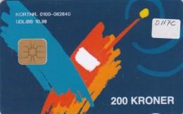 Denmark, DD 117c, 200 Kr, Tele Danmark Mobile, Only 3373 Issued, 2 Scans. - Danemark