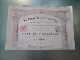 LA PIERRE DE VERRE GARCHEY (fondateur) 1900 - Unclassified