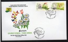 TURKISH CYPRUS 2016 FDC. EUROPA THINK GREEN - Cyprus (Turkey)