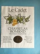 1544 - Suisse  Chasselas Romand Le Cadet - Etiquettes