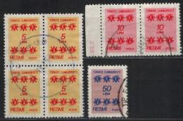 TÜRKEI - Dienstmarken MiNr: 163+164+166  Used - 1921-... Republik