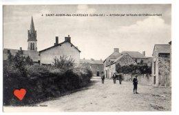 09543-LE-44-SAINT-AUBIN-des-CHATEAUX-Arrivée Par La Route De Châteaubriant------animée - Altri Comuni